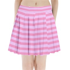 Fabric Baby Pink Shades Pale Pleated Mini Skirt by AnjaniArt