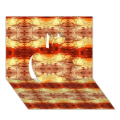 Fabric Design Pattern Color Apple 3d Greeting Card (7x5) by AnjaniArt