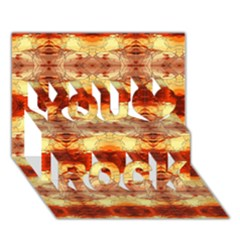 Fabric Design Pattern Color You Rock 3d Greeting Card (7x5) by AnjaniArt