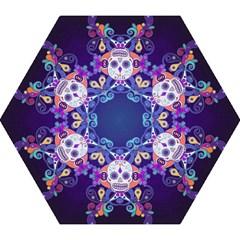 Día De Los Muertos Skull Ornaments Multicolored Mini Folding Umbrellas by EDDArt