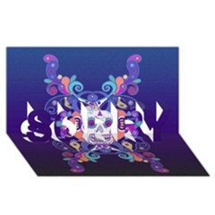 Día De Los Muertos Skull Ornaments Multicolored Sorry 3d Greeting Card (8x4) by EDDArt