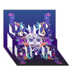 Día De Los Muertos Skull Ornaments Multicolored You Did It 3d Greeting Card (7x5) by EDDArt