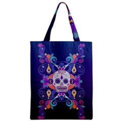 Día De Los Muertos Skull Ornaments Multicolored Zipper Classic Tote Bag by EDDArt