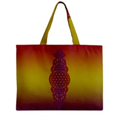 Flower Of Life Vintage Gold Ornaments Red Purple Olive Zipper Mini Tote Bag by EDDArt