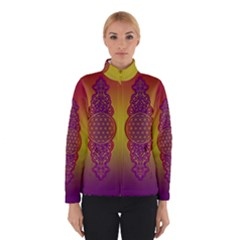 Flower Of Life Vintage Gold Ornaments Red Purple Olive Winterwear by EDDArt