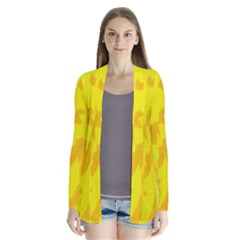 Simple Yellow Drape Collar Cardigan by Valentinaart