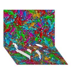 Lizards Love Bottom 3d Greeting Card (7x5) by Valentinaart