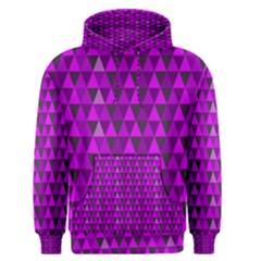 Purple Triangles Men s Pullover Hoodie