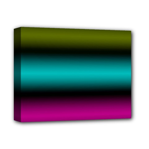 Dark Green Mint Blue Lilac Soft Gradient Deluxe Canvas 14  X 11  by designworld65