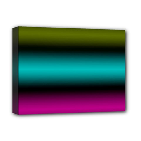 Dark Green Mint Blue Lilac Soft Gradient Deluxe Canvas 16  X 12   by designworld65