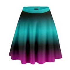 Dark Green Mint Blue Lilac Soft Gradient High Waist Skirt by designworld65
