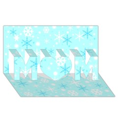 Blue Xmas Pattern Mom 3d Greeting Card (8x4) by Valentinaart
