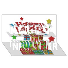 Happy Holidays   Gifts And Stars Happy New Year 3d Greeting Card (8x4) by Valentinaart