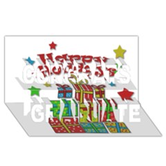 Happy Holidays   Gifts And Stars Congrats Graduate 3d Greeting Card (8x4) by Valentinaart