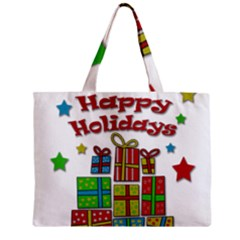 Happy Holidays   Gifts And Stars Zipper Mini Tote Bag by Valentinaart