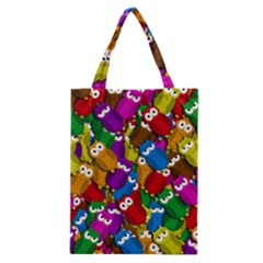Cute Owls Mess Classic Tote Bag by Valentinaart
