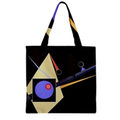 Construction Zipper Grocery Tote Bag by Valentinaart