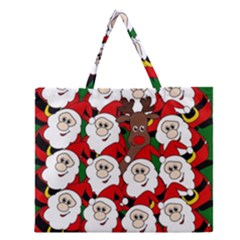 Did You See Rudolph? Zipper Large Tote Bag by Valentinaart