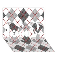 Fabric Texture Argyle Design Grey Boy 3d Greeting Card (7x5) by AnjaniArt
