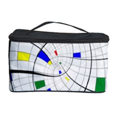 Swirl Grid With Colors Red Blue Green Yellow Spiral Cosmetic Storage Case by designworld65