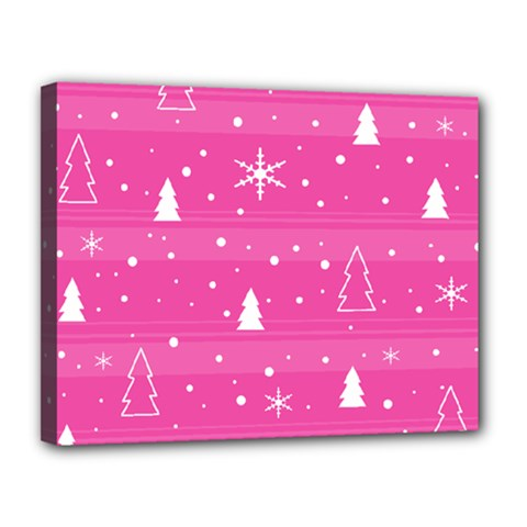 Magenta Xmas Canvas 14  X 11  by Valentinaart