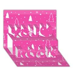 Magenta Xmas You Rock 3d Greeting Card (7x5)