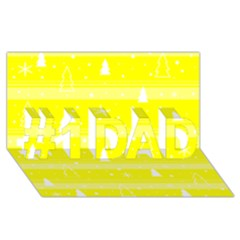 Yellow Xmas #1 Dad 3d Greeting Card (8x4) by Valentinaart