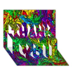 Hot Liquid Abstract A Thank You 3d Greeting Card (7x5) by MoreColorsinLife