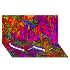 Hot Liquid Abstract B  Twin Heart Bottom 3d Greeting Card (8x4) by MoreColorsinLife