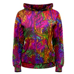 Hot Liquid Abstract B  Women s Pullover Hoodie by MoreColorsinLife