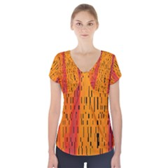 Clothing (20)6k,kg Short Sleeve Front Detail Top by MRTACPANS
