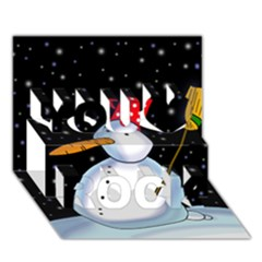 Lonely Snowman You Rock 3d Greeting Card (7x5) by Valentinaart
