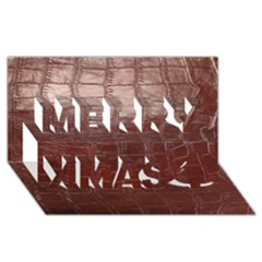 Leather Snake Skin Texture Merry Xmas 3d Greeting Card (8x4)