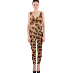 Leopard Print Animal Print Backdrop Onepiece Catsuit by AnjaniArt