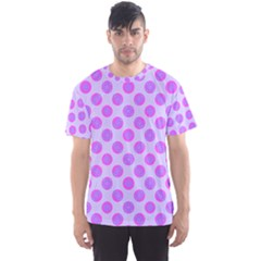 Pastel Pink Mod Circles Men s Sport Mesh Tee by BrightVibesDesign