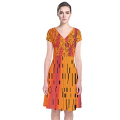 Clothing (20)6k,kgb Short Sleeve Front Wrap Dress by MRTACPANS