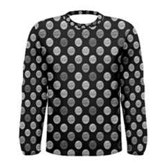 Death Star Polka Dots In Greyscale Men s Long Sleeve Tee by fashionnarwhal