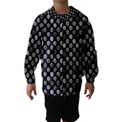 Death Star Polka Dots In Greyscale Hooded Wind Breaker (kids)