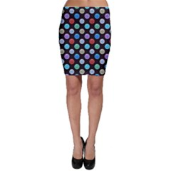 Death Star Polka Dots In Multicolour Bodycon Skirt by fashionnarwhal