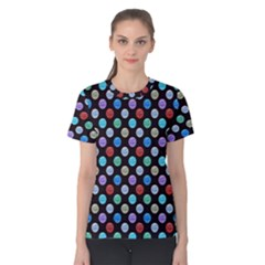 Death Star Polka Dots In Multicolour Women s Cotton Tee by fashionnarwhal