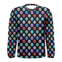 Death Star Polka Dots In Multicolour Men s Long Sleeve Tee by fashionnarwhal