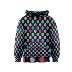 Death Star Polka Dots In Multicolour Kids  Zipper Hoodie by fashionnarwhal