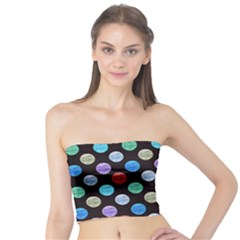 Death Star Polka Dots in Multicolour Tube Top by fashionnarwhal