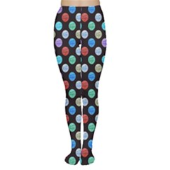 Death Star Polka Dots In Multicolour Women s Tights by fashionnarwhal