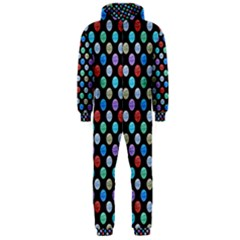 Death Star Polka Dots in Multicolour Hooded Jumpsuit (Men)  by fashionnarwhal