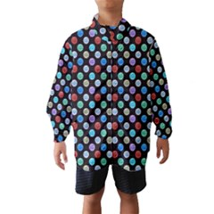 Death Star Polka Dots In Multicolour Wind Breaker (kids) by fashionnarwhal