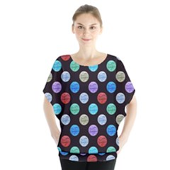 Death Star Polka Dots In Multicolour Blouse