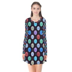 Death Star Polka Dots in Multicolour Flare Dress by fashionnarwhal