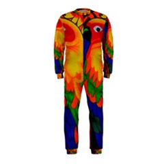 Parakeet Colorful Bird Animal OnePiece Jumpsuit (Kids) by AnjaniArt