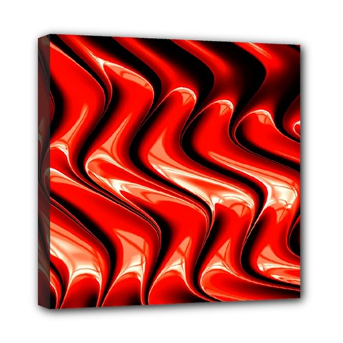 Red Fractal  Mathematics Abstact Mini Canvas 8  X 8  by AnjaniArt